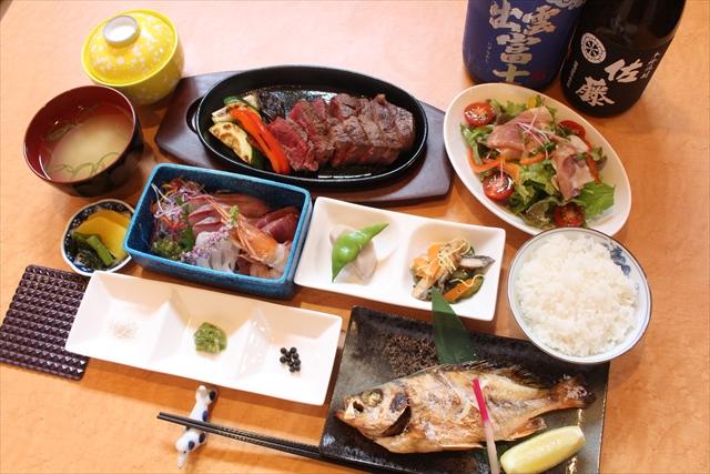 和食を中心とした地元食材を使用した料理!